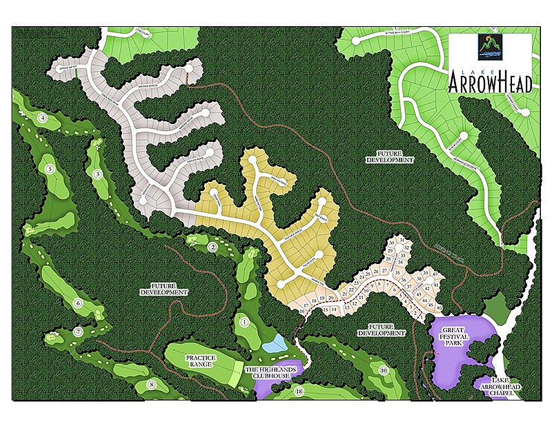 Lake Arrowhead Siteplan