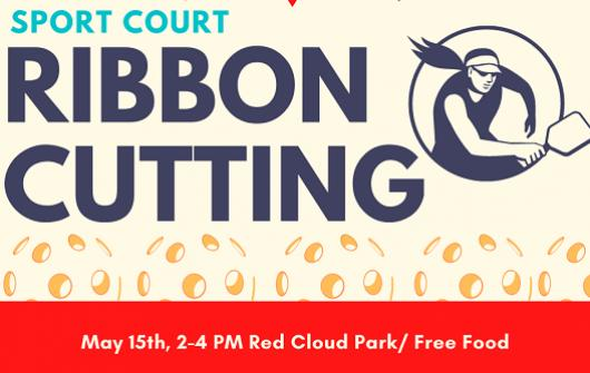 SPORT COURT GRAND OPENING AND RIBBON CUTTING