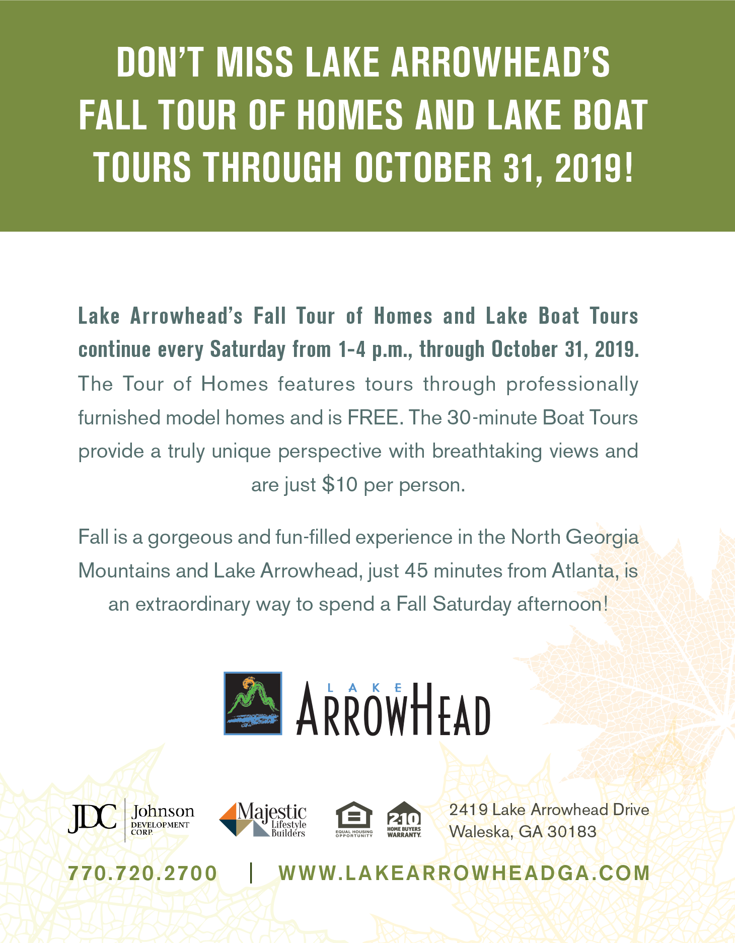 Lake Arrowhead Tour of Homes & Boat Tours 2019